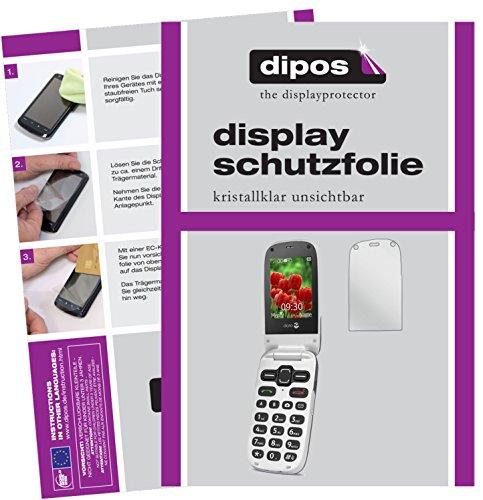 dipos I 2X Schutzfolie klar kompatibel mit Doro Secure 628 Folie Bildschirmschutzfolie