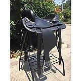 Dfghbn Silla de Caballo Montura del Caballo de Silla de Montar de Resistencia de Western Saddle Conjunto Completo de Accesorios Silla de Montar Occidental (Color : Black, Size : One Size)