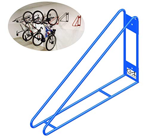 Cycle Stands India Wall Mount Bike Rack Vertical Bicycle Hanger with Easy and Secure Storage for Space Saving in Garage and congested Areas (Blue Colour)