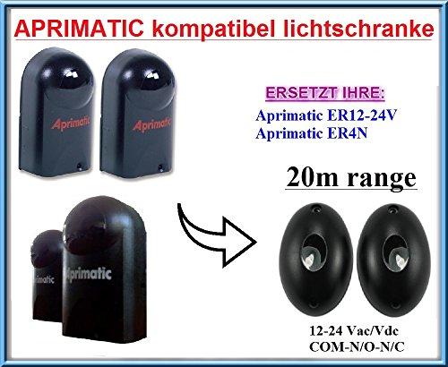 Aprimatic ER12-24V / Aprimatic ER4N kompatibel lichtschranke, paare von äußere universale Fotozellen / Infrarot IR Sicherheit Sensor 12 -24 Vac/Vdc, NO/NC. Reichweite: bis 20m!!!