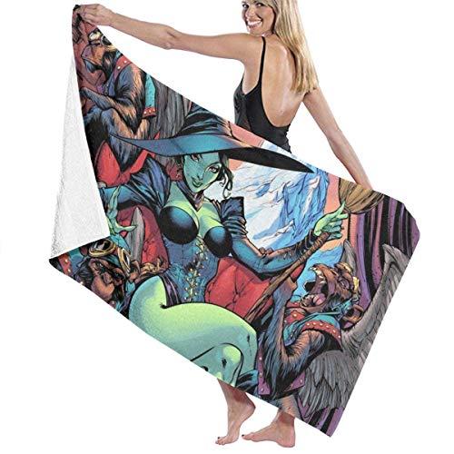 AllenPrint Toallas De Baño,Toalla De Baño Wi-Zar-D O-Z, Coloridas Y Hermosas Toallas De SPA para Mujeres para El Hogar, Interior Y Exterior,80x130cm