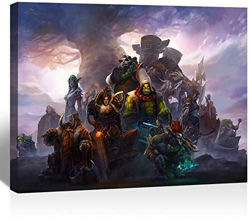 UETECH Colorful Canvas Wall Art World of Warcraft Faction Leaders Bedroom Painting Art Wall 36 x 24 inches