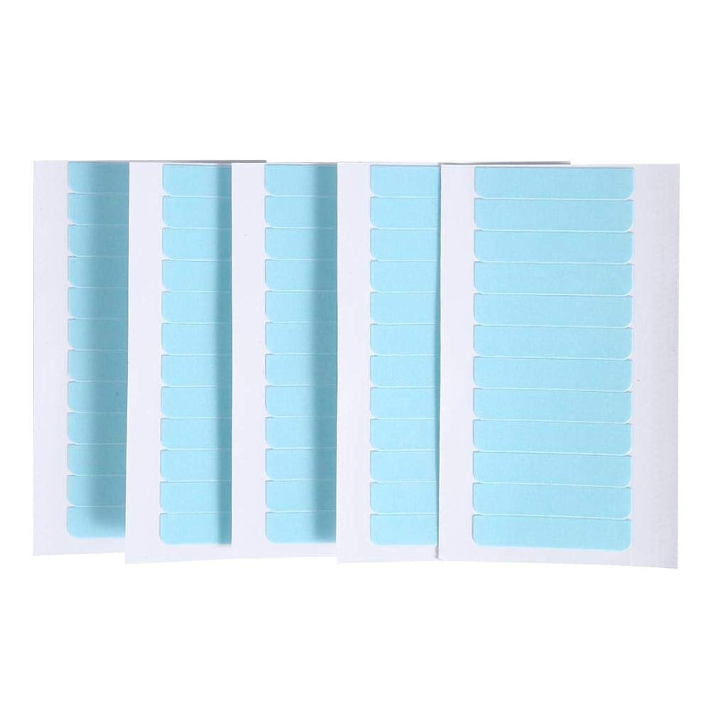 ハブブ深遠汚染された60個/セット肌横糸エクステンション接着剤 ヘアエクステンション用粘着テープ 両面スーパーテープタブ美容ツール
