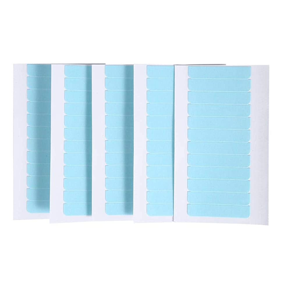 発表リスナーずっと60個/セット肌横糸エクステンション接着剤 ヘアエクステンション用粘着テープ 両面スーパーテープタブ美容ツール