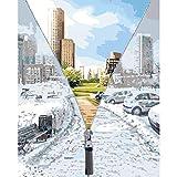 ZXDA Marco de Paisaje de la Ciudad DIY Pintura por números para Adultos Arte Moderno de la Pared del hogar por números acrílico DIY Regalo A1 50x70cm