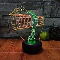 バレーボール3Dビジョンナイトライトクリエイティブカラフルタッチ充電式LEDステレオライトギフトライト