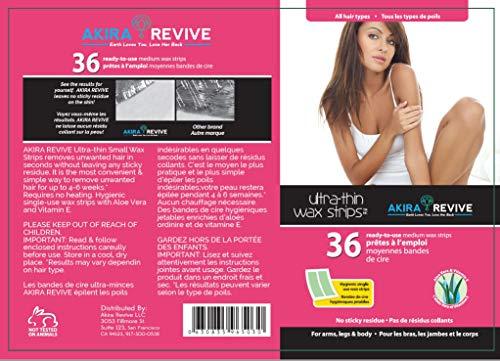 Akira Revive Ultra-Thin Wax Strips. Single use with Aloe Vera and Vitamin...