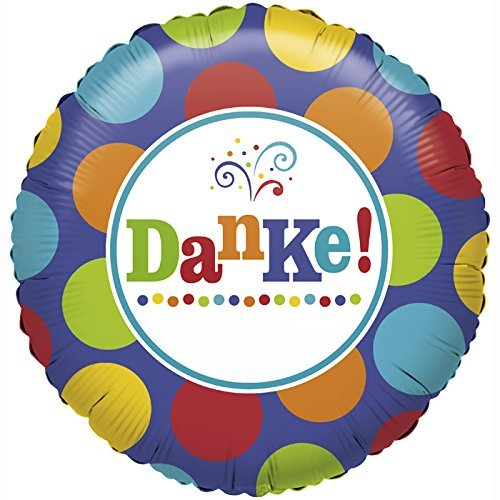 Folienballon * DANKE! * in bunt, um sich zu bedanken // Folien Ballon Party Helium Deko Ballongas Motto Gefallen