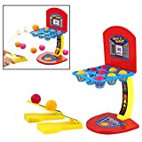 Itian Basketball Shooting Game Miniature Desktop Basketball Finger Play pour enfants Adultes Jeux de table