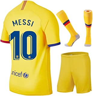 NIDNIDAY New 2019/2020 Barcelona Away 10 Messi Kids/Youth Socce Jersey