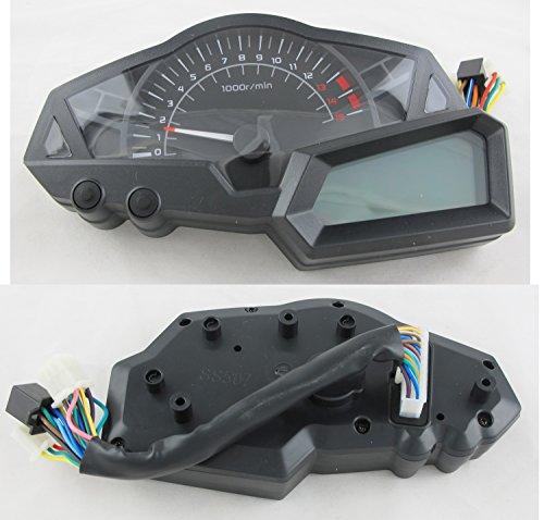 199km/h LCD Digital Velocímetro Tacómetro Cuentakilómetros Presión de aceite Warning light EFI Ingeniero Motocicleta Scooter