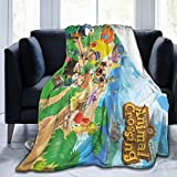Animal Cute Crossing Micro Fleece Throw Blanket for Kids and Adults Super Soft Warm Lightweight 3D Printed Flannel Blankets for Bed Couch Sofa 50'X40'