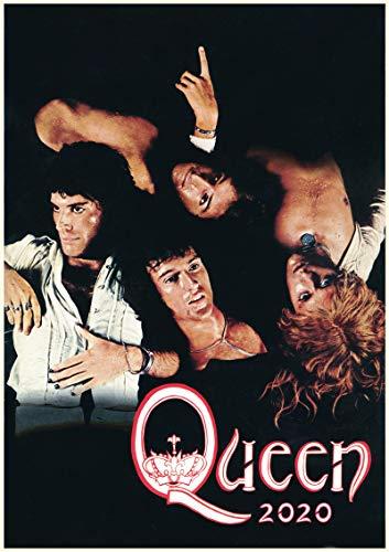 Wandkalender 2020 [12 blatt 20x30cm] Queen Rock Legend Vintage Retro Musik Photos Poster Plakat
