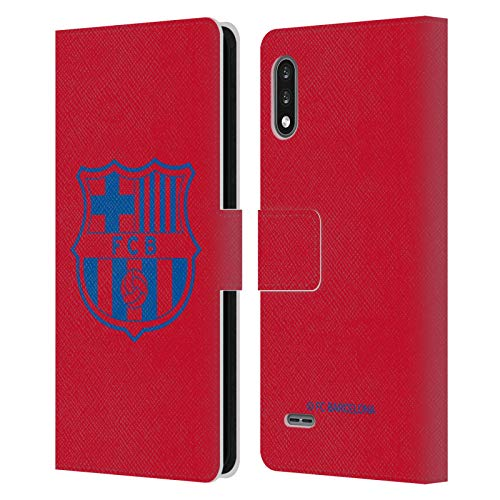 Head Case Designs Licenciado Oficialmente FC Barcelona Rojo Crest Patterns Carcasa de Cuero Tipo Libro Compatible con LG K22