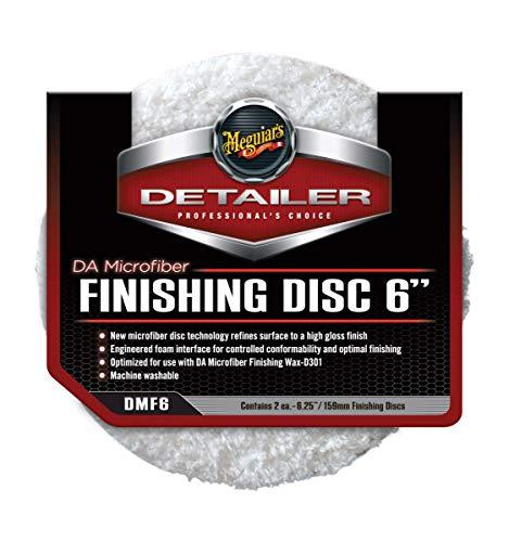 Meguiar\'s DMF6 DA Microfiber Finishing Disc 6 Zoll Mikrofaser-Polierpad, 2-er Pack