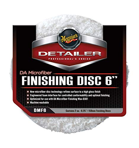 Meguiar's DMF6 DA Microfiber Finishing Disc 6 Zoll Mikrofaser-Polierpad, 2-er Pack