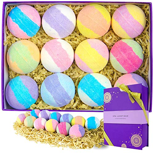 Bath Bombs Gift Set, Spa Luxetique 12...