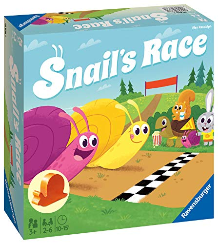 Ravensburger Snails Race - Board Games For Kids Age 3 Years and Up - Children's Racing Game