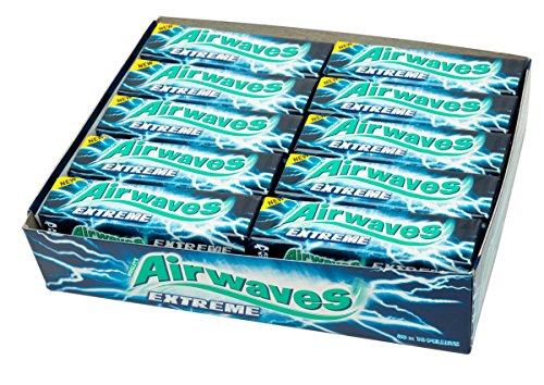 Wrigleys Airwaves Extreme Menthol and Eucalytus - Case of 30