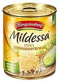 Mildessa Hengstenberg mildes Weinsauerkraut 6 Portionen, 12er Pack (12 x 810 g Dose)