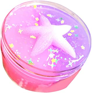 KINGOLDON Moon & Star Mix Color Cloud Puff Slime Putty Scented Crystal Mud Toy 100ml
