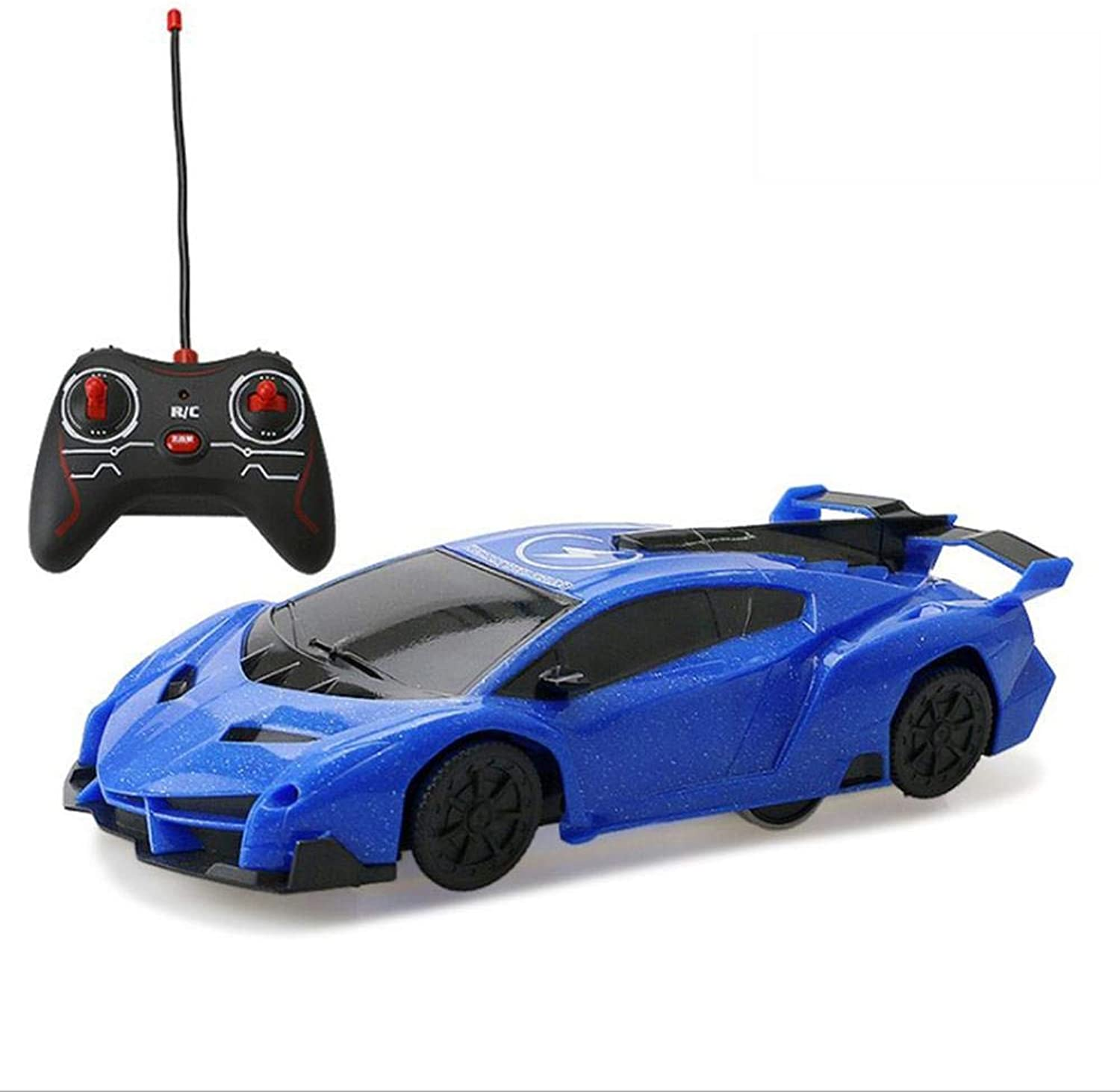 Generic Remote Control Car Toy Wall Climber Car Electric Toy RC Car Wall Climbing Mini Car Vehicle Toys for Kids Boy Birthday Gift Toys bluee