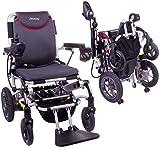 Wheelchair Silla de ruedas, silla de rehabilitación médica para personas mayores, personas mayores, Igo + Silla de ruedas eléctrica compacta y liviana con joystick para adultos