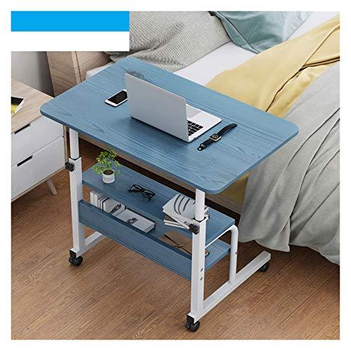 LAA Mesa auxiliar portátil con soporte de ruedas, cama portátil, sofá, mesa auxiliar (color: azul, tamaño: 60 x 40 cm)