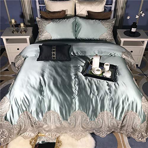 PHGo Vierteilige Bettwäsche Aus Seide, Baumwolle, Importierte Spitze, Vierteilige ägyptische Langstapel-baumwollbettwäsche Im Europäischen Stil