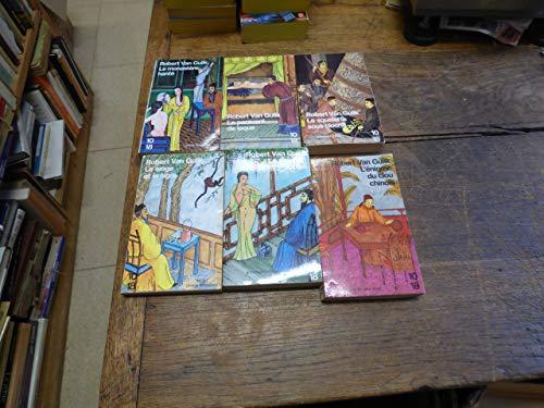 Lot de 6 livres de Robert van Gulik : le singe et le tigre - le pavillon rouge - le monastère hanté - l'énigme du clou chinois - le squelette sous cloche -...
