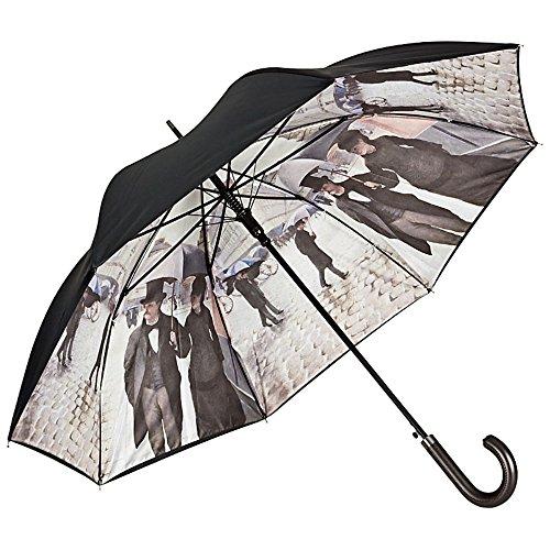 VON LILIENFELD Regenschirm Auf-Automatik Damen Herren Stabil Kunst Motiv Double-Layer Gustave Caillebotte: Paris im Regen