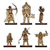 Fantasy Miniatures 2.5D Wood Laser Cut Figures 28mm Scale 6PCS Starter Set Perfect for D&D, Dungeons and Dragons, Pathfinder and Other Tabletop RPG