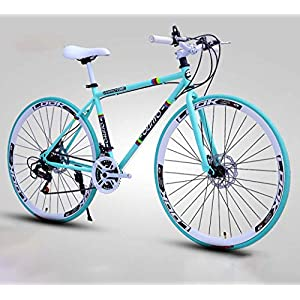 Road Bikes ZTYD Men's And Women's Road Bicycles, 26-Inch Bikes, Adult-Only, High Carbon Steel Frame, Road Bicycle Racing, Wheeled Double Disc Brake Bicycles