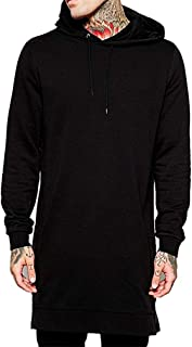 Hipster Zipper Shirts Men Cotton Hooded Sweatshirt Black Pocket Hip Hop Tops Prime