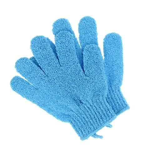 KESYOO お風呂用手袋 泡立ちグローブ 両面 浴用手袋 バス用品 垢すり用グローブ 男女兼用 シャワー手袋 1ペア(ブルー)