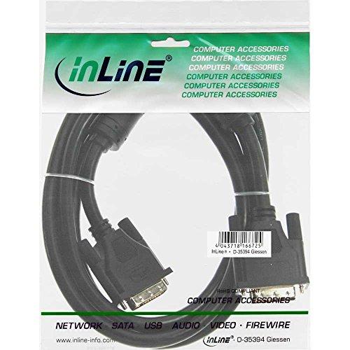InLine 17772 DVI-D Kabel, digital 24+1 Stecker / Stecker, Dual Link, 2 Ferrite, 2m