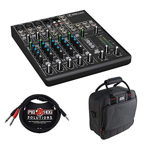 Mackie 802VLZ48-Kanal-Mixer mit g-mixerbag-1212Gepolsterte Nylon Mischpult/Ausrüstung Tasche & pb-s34103,5mm Stereo Breakout Kabel, 10Feet Bundle