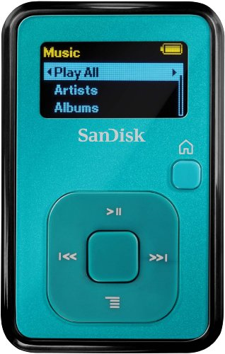 SanDisk Sansa Clip+ MP3-Player 4GB, Aquamarin