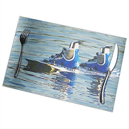 Placemats Set van 6 Place Mats Placemats Wakeboard Wakeboarden Wakeboard Boarding Wakeboarder Water