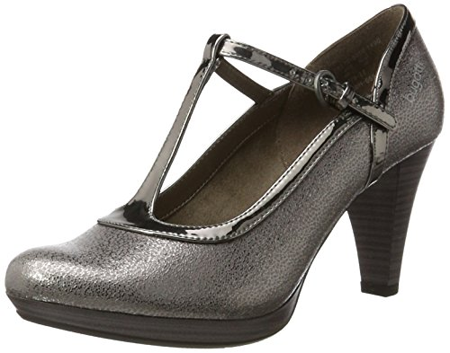 bugatti Damen 412281725050 Pumps, Braun (Taupe/Metallic 1490), 37 EU