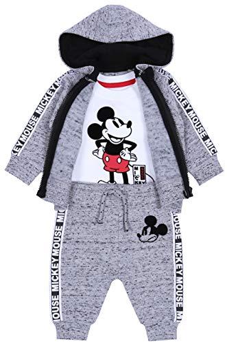 Grijze baby trainingspak van gemengd weefsel + blouse Mickey Mouse Disney