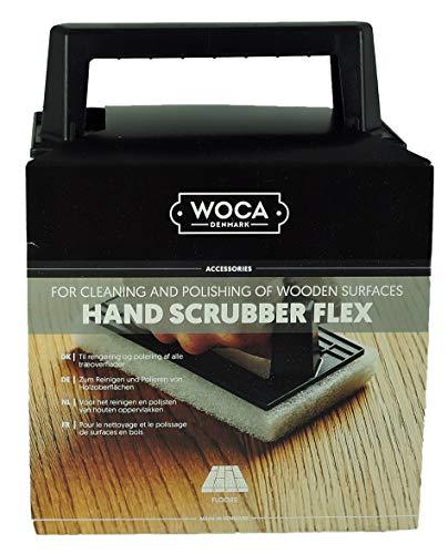 WOCA Handschrubber Flex inkl. 6 Pads Reinigen, Polieren *Weiß* fein
