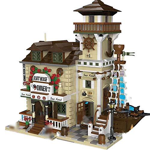 Bloques de construcción para niños Creative City Street View Building Block Tienda al por menor Cafetería Restaurante Modelo de construcción en miniatura Regalo de juguete para niños DIY