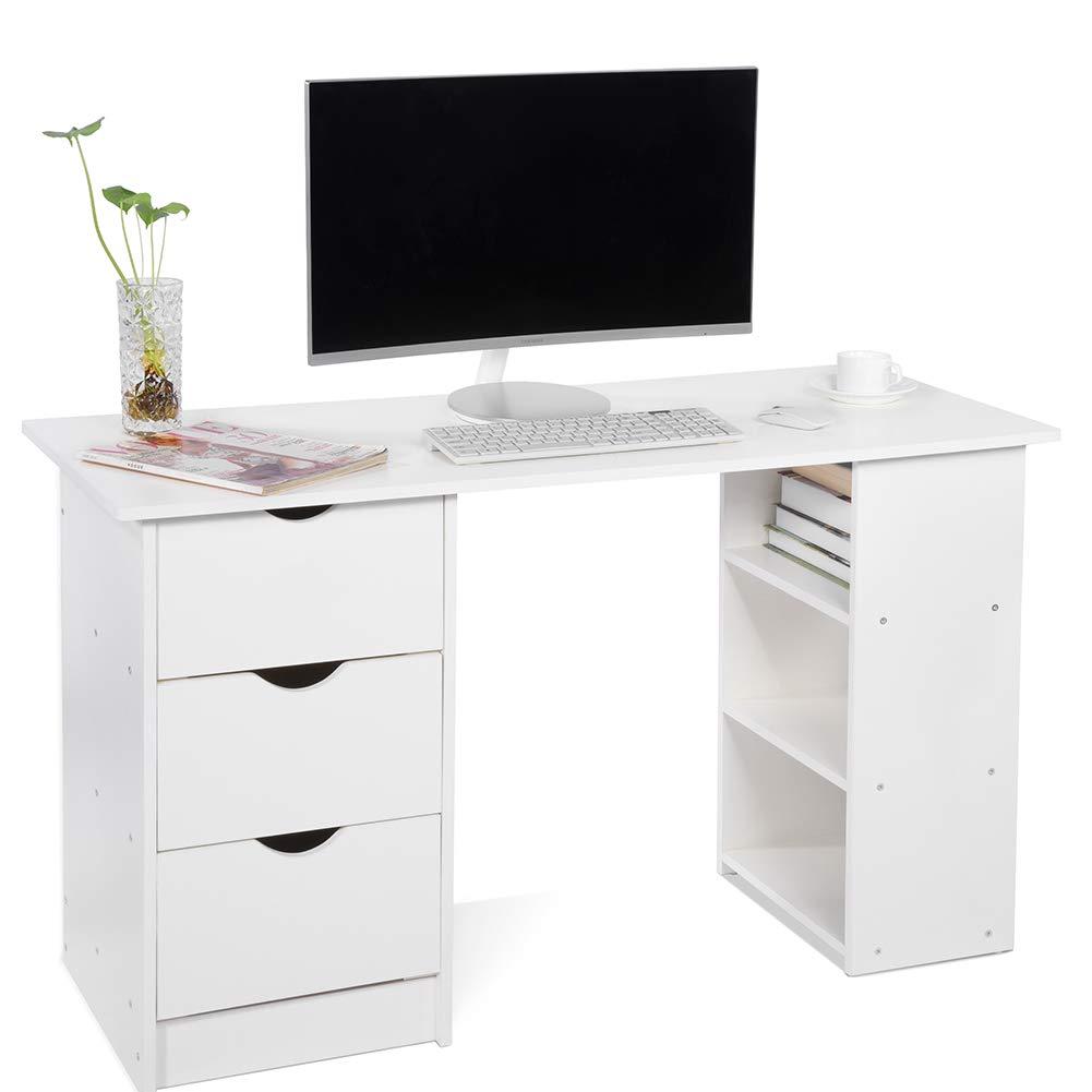 white desks for bedrooms amazon co uk rh amazon co uk white desk with storage cubes white desk with storage above