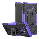 Galaxy Note 9 Case, Viodolge [Shockproof] Rugged Dual Layer Protective Phone Case Cover with Kickstand for Samsung Galaxy Note9 (Purple)