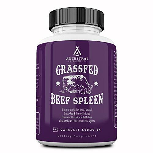Ancestral Supplements Grass Fed Beef Spleen (Desiccated) — Immune, Allergy, Iron (5 X
