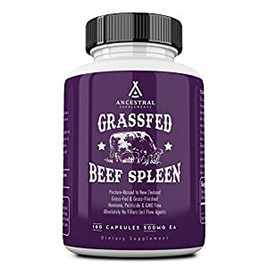 Ancestral Supplements Grass Fed Beef Spleen (Desiccated) — Immune, Allergy, Iron (5 X's More Heme Iron Than Liver) 9