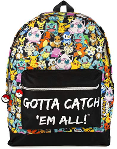 Pokemon Gotta Catch  All Oficial Mochila Bolsa Escuela Correas Ajustables