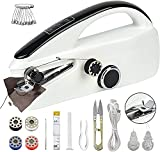iRUNTEK Handheld Sewing Machine, Mini Portable Sewing Machine,Household Cordless Electric Stitch Tool for Quick Repairing Fabric, Curtains, Clothing, Home & Travel Use