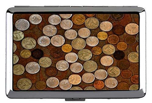 Zigarettenetui Box, Dollar Münzen Münze Metall Tasche Visitenkartenetui